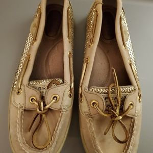 Sperry Gold Glitter Angelfish size 7.5